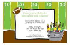 Tailgate Party Invitation from Picture Perfect