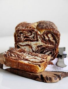 sweet walnut chOcOlate bread  http://www.passionateaboutbaking.com/