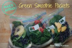 Make-Ahead Green Smoothie Packets