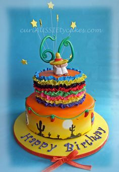 Mexico theme 60th birthday cake
