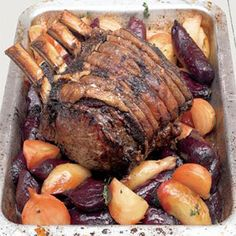 Rib Roast of Beef with Beetroot and Horseradish Recipe - Jamie Oliver Recipe - Delish.com