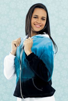 Degradados blusa negro al blanco del teñido, pacify azul por