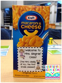 Back to School Student gift idea - Mac and cheese {FREE}