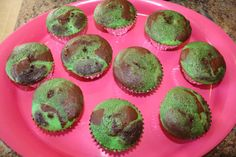 I made camouflage cupcakes for the cake. I made one chocolate cake and one vanilla cake. I added food coloring to give me two shades of green and two shades of brown. then I layered the batters in the cups and baked them. very easy and they turned out camouflaged.