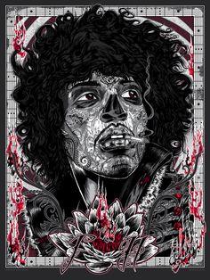 Jimi Hendrix - Rhys Cooper - ''Bad 2the Bonez Series - Voodoo Child'' ----