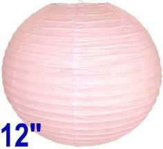 """12"""" Pale Pink Chinese Japanese Paper Lantern  Diameter: 12""""  Expanding with a metal frame  Bulb and cord are not included"""