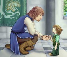 You must be Faramir, by Heartstart on deviantART. --- Faramir meeting Pippins son, Faramir. HEAD CANON ACCEPTED!!! the feels, they overflow!
