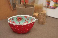 Mod Podge fabric bowl