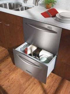 Dual drawer dishwasher would be nice.  Can wash one drawer or both at time, great for small loads.