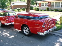 56 Chevy Nomad with Nomad Trailer