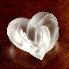 Lalique Crystal Heart: Made in France. $310