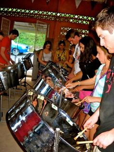 """Just have fun and play from the heart, because that's what it's all about.""--The Trinidad and Tobago MUSC students start each day with a steel drum lesson."