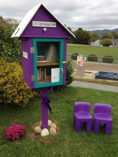 Ellen Miller. Rutland, VT. In loving memory of our daughter, Carly, who was tragically killed by an impaired driver in 2012. She loved helping others, especially children. She always wanted to make things brighter and happier. We decided to help our community in her honor with a Little Free Library specializing in quality children's books. We have painted it in her favorite colors, purple and turquoise, and put a golf ball on the roof, as she loved the game of golf.