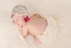 DIY Vintage Lace Bonnet for Newborns or Children — Amanda Stock Photography
