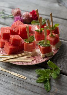 Let's Party: Watermelon Bites   BHG Delish Dish