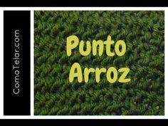 PUNTO ARROZ Tejido en Telar - Seed Stitch on Loom in Spanish