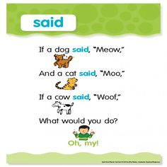 "Sight Word Poem - ""said"""