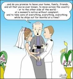 the military vows