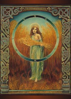 Ceres Roman Fertility & Agriculture Goddess 5x7 Card