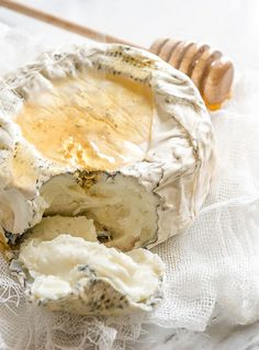 Aged Goat Cheese and  Honey