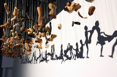 Bohyun Yoon's sculptural installation entitled Unity is absolutely mind-blowing. Yoon suspends mangled silicon body parts from a flat surface, casting shadows that create incredibly detailed silhouettes. Upon taking closer look, however, viewers will notice that the shadows aren't exactly safe for work. Unity, indeed.