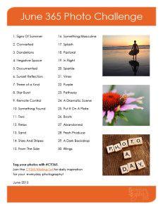 June Photo Challenge List