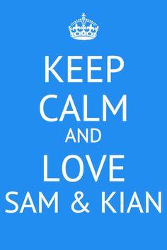 Sam and Kian<3 haha
