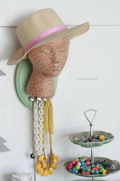 mannequin head jewelry organiziation