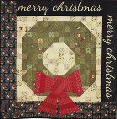 """Festive quilt kit - designed by Sandy Gervais using her Christmas fabric line """"Pine Fresh"""" jelly roll. Merry Christmas!"""