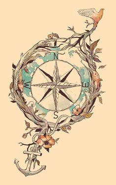 nautical art tattoo