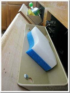 Turn your faux sink-front drawers into something useful! kitchen storage, faux kitchen drawers