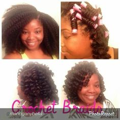 crochet braids using marley hair more braids hairstyles crochet braids ...