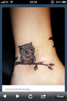 owl tattoo (via @Ana Lima Araujo)