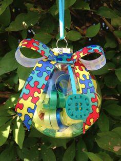 Handmade Autism Awareness Christmas Ornament by kuteKrazyKreations, $9.00