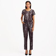 Collection plum sequin jumpsuit