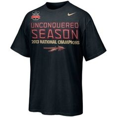 Nike Florida State Seminoles (FSU) 2013 BCS National Champions Celebration Unconquered T-Shirt - Black #BCS derrick stuff, bcs nation, florida state seminoles, closet stuffer, 2013 bcs