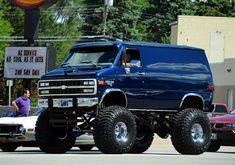 Lifted Chevy Van