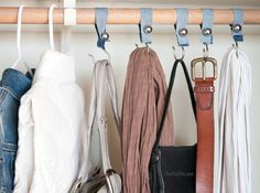 Shower hook closet organizers...likes really simple to do
