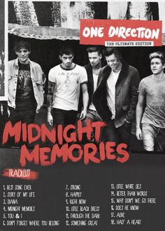 album covers, cant wait, fans, track list, direct infect, harry styles, one direction, wisconsin badgers, midnight memori