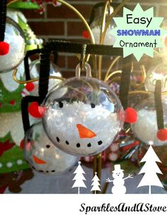 Easy kid friendly DIY snowman ornaments.