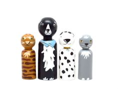 Cats and Dogs // Wooden Toys Boys Gift // Fair Trade // Peg Dolls Modern Doll House - Wooden Toys on Etsy, $41.83 AUD