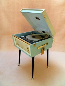 beautiful 1960s Dansette Bermuda. I would like a second record player, please.