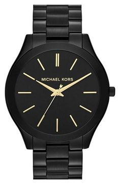 "Simple. Slim. Sleek. Michael Kors ""runway"" watch."