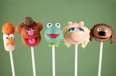 Looove these Muppets cake pops