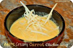 Creamy Carrot Chicken Soup  @Gutsy