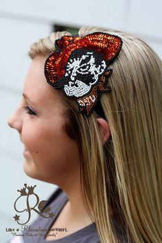 Pistol Pete Sequin Headband- Cute!