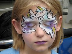 Stunning unicorn facepaint!