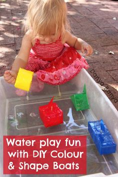 Water play fun with DIY Colour & Shape Boats