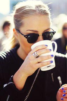 coffee & raybans