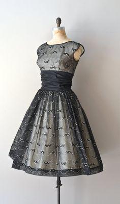 1950's Black Chiffon Dress